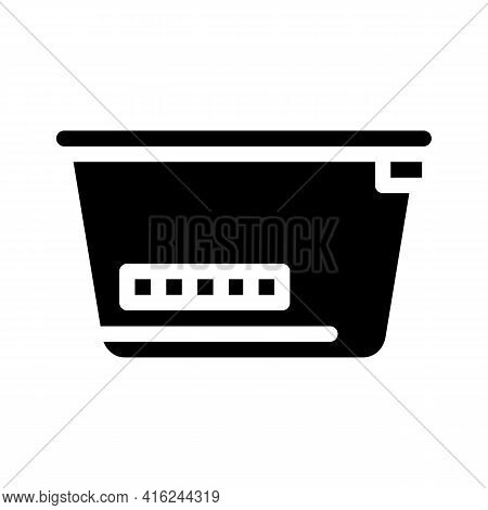Lunchbox With Color Thermometer Glyph Icon Vector. Lunchbox With Color Thermometer Sign. Isolated Co