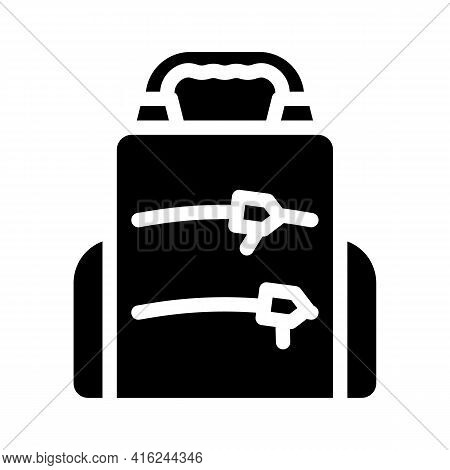 Backpack Lunchbox Glyph Icon Vector. Backpack Lunchbox Sign. Isolated Contour Symbol Black Illustrat