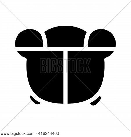 Child Lunchbox Glyph Icon Vector. Child Lunchbox Sign. Isolated Contour Symbol Black Illustration