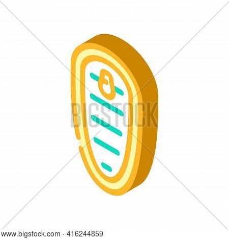 Top View Of Canned Food Isometric Icon Vector. Top View Of Canned Food Sign. Isolated Symbol Illustr