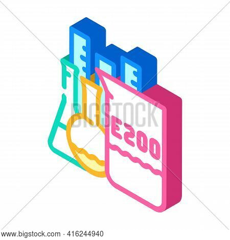 Chemical Inventory Food Additives Isometric Icon Vector. Chemical Inventory Food Additives Sign. Iso