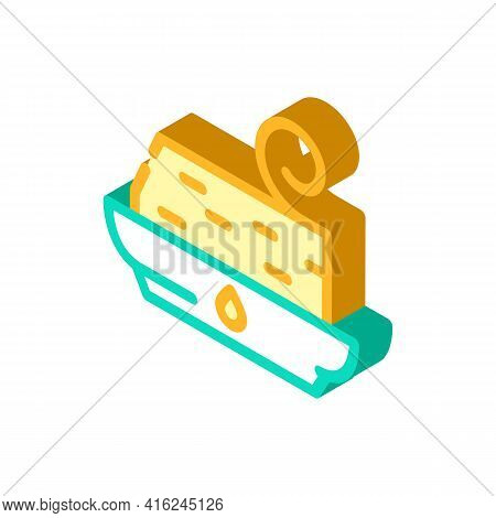 Trans Fat Isometric Icon Vector. Trans Fat Sign. Isolated Symbol Illustration