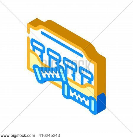 Thermo Curlers Isometric Icon Vector. Thermo Curlers Sign. Isolated Symbol Illustration