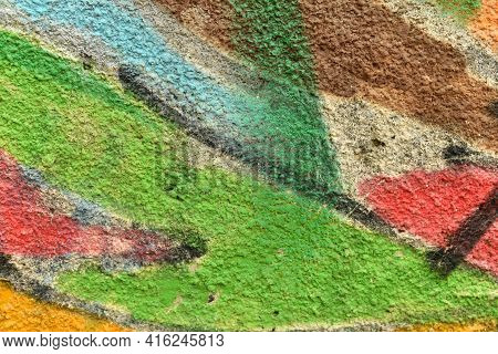 Colored Wall Texture Multicolor Paint Graffiti Background
