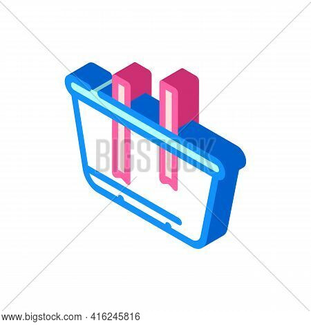 Lunchbox Constructor Isometric Icon Vector. Lunchbox Constructor Sign. Isolated Symbol Illustration