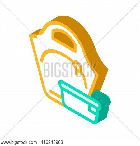 Women Lunchbox Isometric Icon Vector. Women Lunchbox Sign. Isolated Symbol Illustration