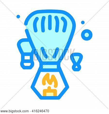 Heavenly Fogariki Event Color Icon Vector. Heavenly Fogariki Event Sign. Isolated Symbol Illustratio