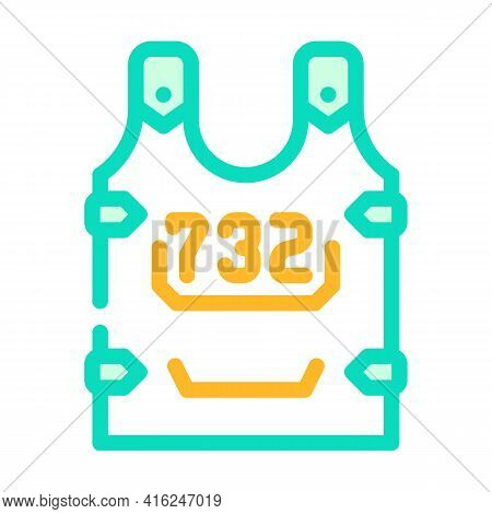 Body Armor Protest Meeting Color Icon Vector. Body Armor Protest Meeting Sign. Isolated Symbol Illus