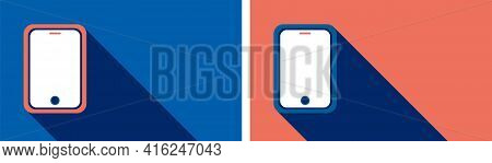 Mobile Phone Background Design. Mobile Phone Background With Blue Color. Mobile Phone Vector Design.