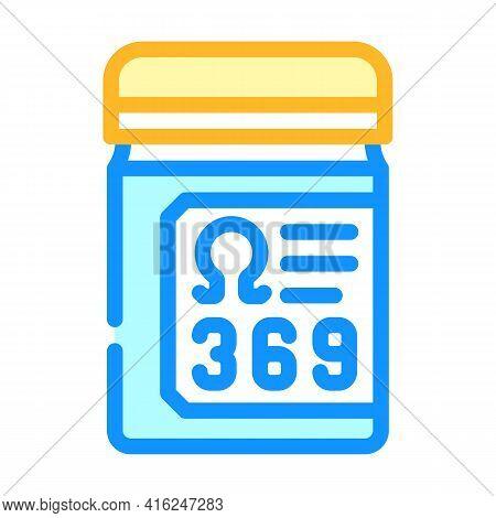 Essential Fatty Acids, Omega 369 Color Icon Vector. Essential Fatty Acids, Omega 369 Sign. Isolated