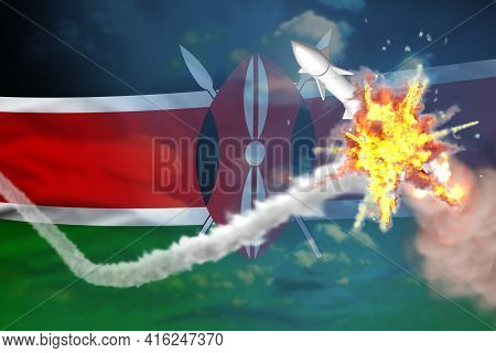 Kenya Intercepted Supersonic Warhead, Modern Antirocket Destroys Enemy Missile Concept, Military Ind