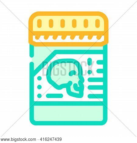 Poison Package Color Icon Vector. Poison Package Sign. Isolated Symbol Illustration