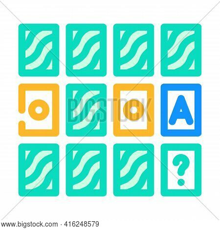 Memory Training Color Icon Vector. Memory Training Sign. Isolated Symbol Illustration