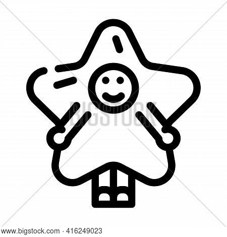Costume Event Line Icon Vector. Costume Event Sign. Isolated Contour Symbol Black Illustration
