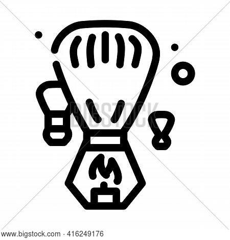 Heavenly Fogariki Event Line Icon Vector. Heavenly Fogariki Event Sign. Isolated Contour Symbol Blac