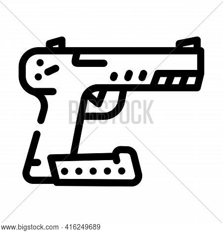 Traumatic Weapon Protest Meeting Line Icon Vector. Traumatic Weapon Protest Meeting Sign. Isolated C