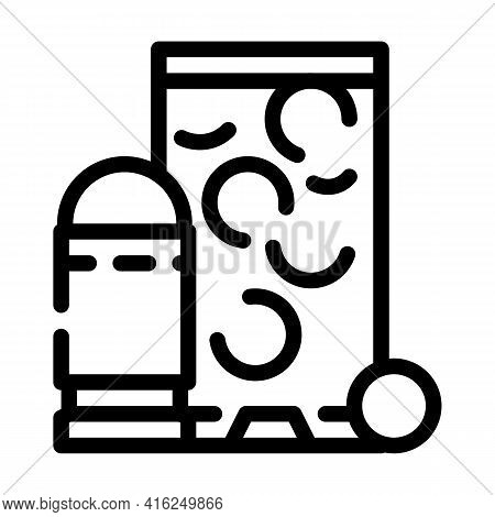 Rubber Bullets Protest Meeting Line Icon Vector. Rubber Bullets Protest Meeting Sign. Isolated Conto
