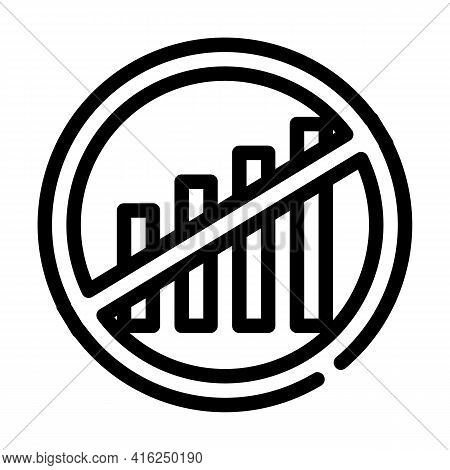 Disconnection Of Mobile Communication Protest Meeting Line Icon Vector. Disconnection Of Mobile Comm