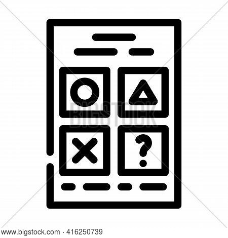 Testing For Self Study Line Icon Vector. Testing For Self Study Sign. Isolated Contour Symbol Black