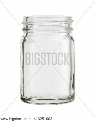 Glass Jar Bottle For Balm (with Clipping Path) Isolated On White Background