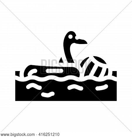 Pool Party Event Glyph Icon Vector. Pool Party Event Sign. Isolated Contour Symbol Black Illustratio