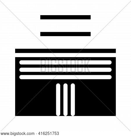 Tactile Road Markings Inclusive Life Glyph Icon Vector. Tactile Road Markings Inclusive Life Sign. I
