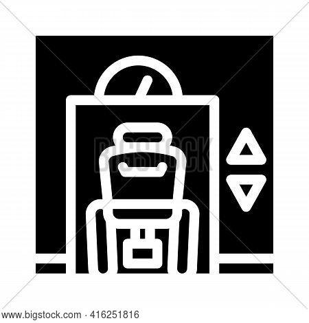 Lift Inclusive Life Glyph Icon Vector. Lift Inclusive Life Sign. Isolated Contour Symbol Black Illus