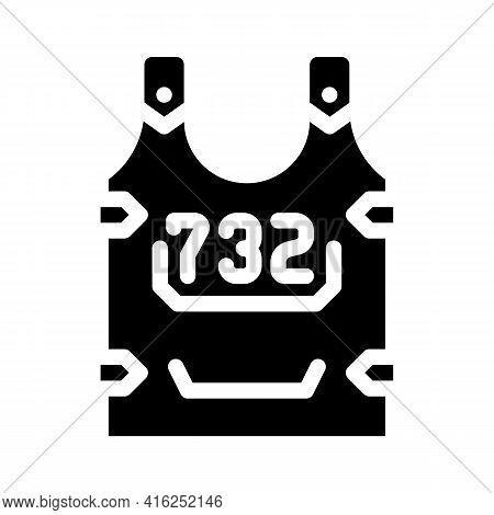 Body Armor Protest Meeting Glyph Icon Vector. Body Armor Protest Meeting Sign. Isolated Contour Symb