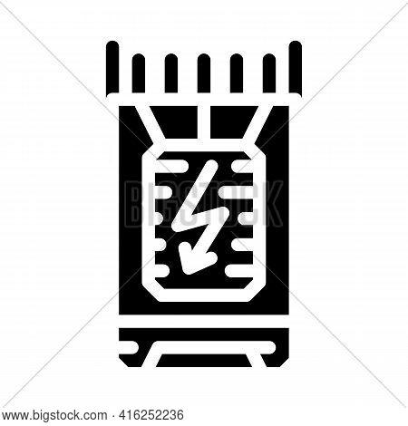 Bullet Stun Gun Glyph Icon Vector. Bullet Stun Gun Sign. Isolated Contour Symbol Black Illustration