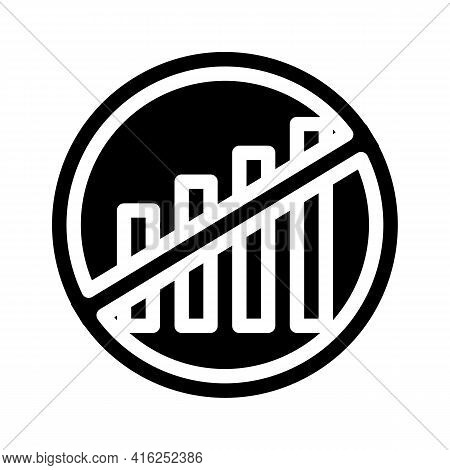 Disconnection Of Mobile Communication Protest Meeting Glyph Icon Vector. Disconnection Of Mobile Com