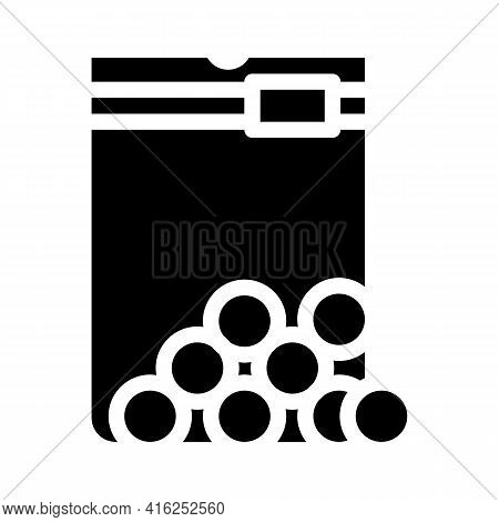 Sugar Balls Sweetener Glyph Icon Vector. Sugar Balls Sweetener Sign. Isolated Contour Symbol Black I