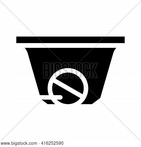 Bowl For Receiving Pills Glyph Icon Vector. Bowl For Receiving Pills Sign. Isolated Contour Symbol B