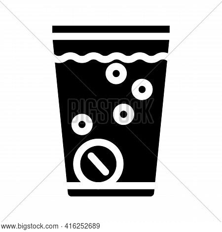 Water Soluble Pills Glyph Icon Vector. Water Soluble Pills Sign. Isolated Contour Symbol Black Illus