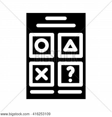 Testing For Self Study Glyph Icon Vector. Testing For Self Study Sign. Isolated Contour Symbol Black