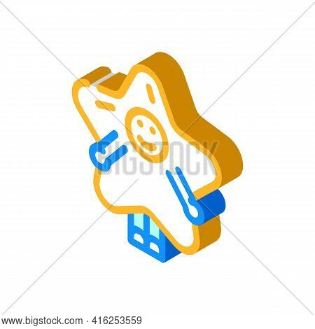 Costume Event Isometric Icon Vector. Costume Event Sign. Isolated Symbol Illustration