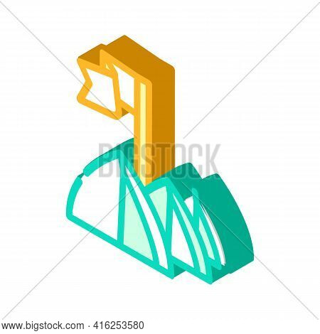 Tent Festival Event Isometric Icon Vector. Tent Festival Event Sign. Isolated Symbol Illustration