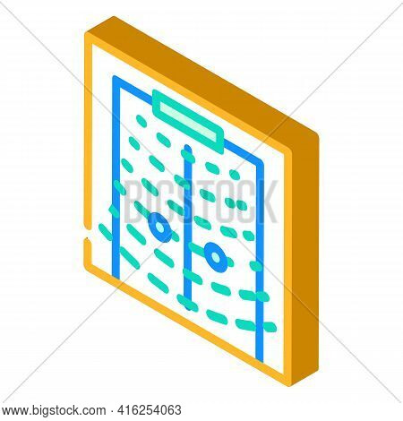 Sound Sensor For Blind People Isometric Icon Vector. Sound Sensor For Blind People Sign. Isolated Sy