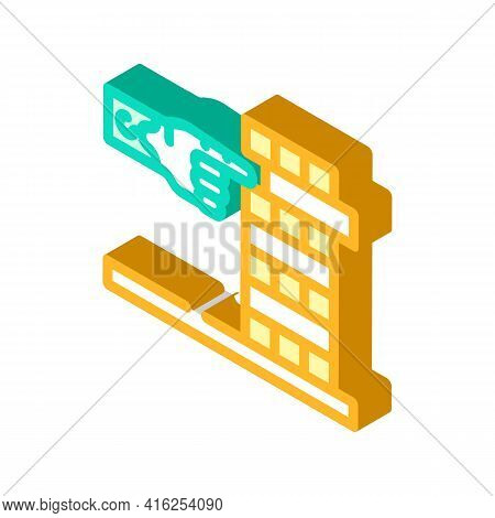 Development Of Fine Motor Skills Of Inclusive Life Isometric Icon Vector. Development Of Fine Motor