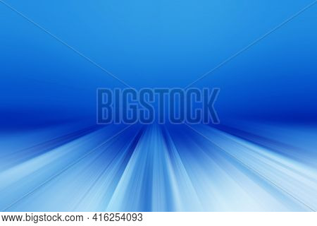 Abstract Radial Blur Surface In Blue And White Tones. Abstract Blue Background With Radial, Radiatin