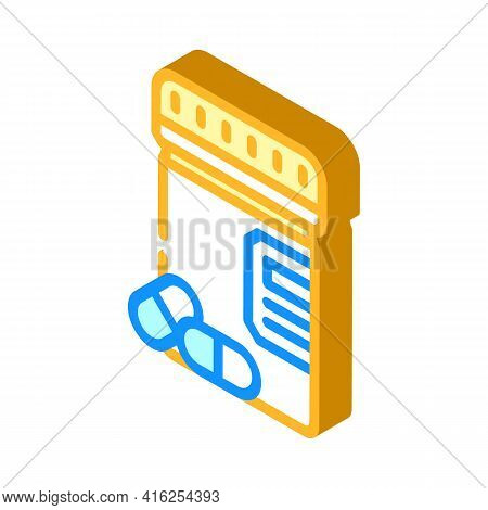 Pills Package Isometric Icon Vector. Pills Package Sign. Isolated Symbol Illustration