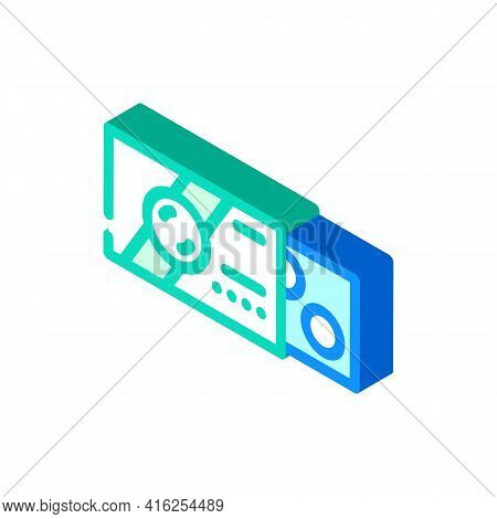 Pack Of Pills Isometric Icon Vector. Pack Of Pills Sign. Isolated Symbol Illustration
