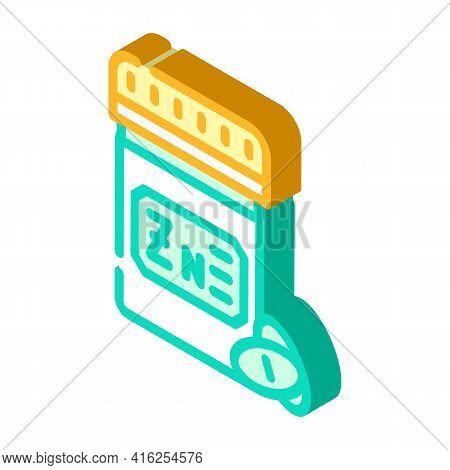 Zinc Pills Trace Elements Isometric Icon Vector. Zinc Pills Trace Elements Sign. Isolated Symbol Ill
