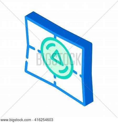 Bookmark Pills Isometric Icon Vector. Bookmark Pills Sign. Isolated Symbol Illustration