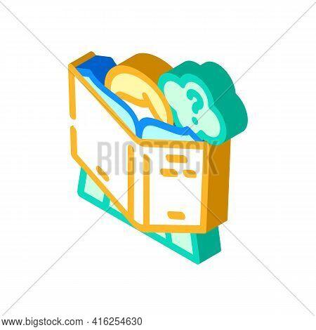 Reading Self Study Isometric Icon Vector. Reading Self Study Sign. Isolated Symbol Illustration