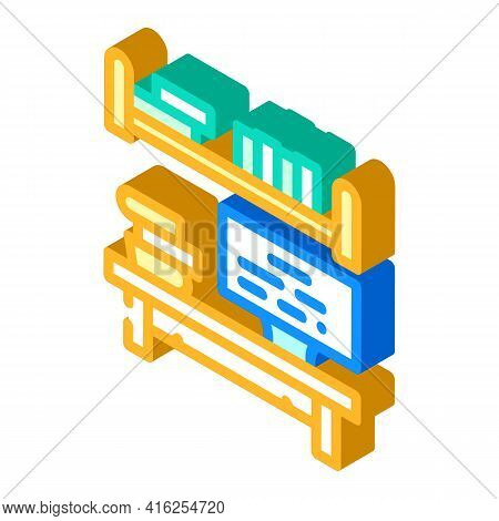 Place To Study Isometric Icon Vector. Place To Study Sign. Isolated Symbol Illustration
