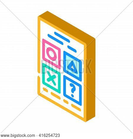 Testing For Self Study Isometric Icon Vector. Testing For Self Study Sign. Isolated Symbol Illustrat