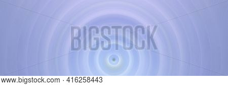Abstract Round Blue Background. Circles From The Center Point. Image Of Diverging Circles. Rotation