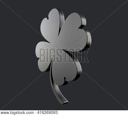 3d Render Of Green Clover Symbolic, Trefle, Ireland, Of, Traditionally, Shamrock, Trevo
