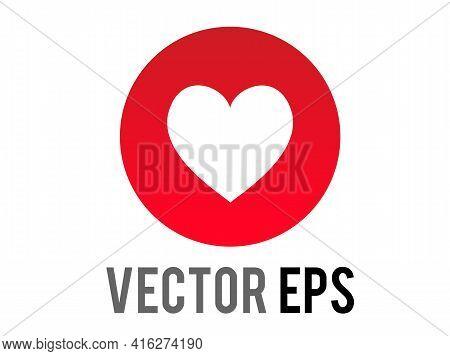 The Isolated Vector Social Media Love Heart Modern Symbol Icon