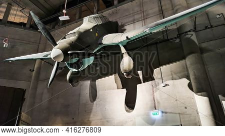 Gdansk, Poland - August 10, 2020: Junkers Or Stuka , German Dive Bomber And Ground Attack Aircraft U